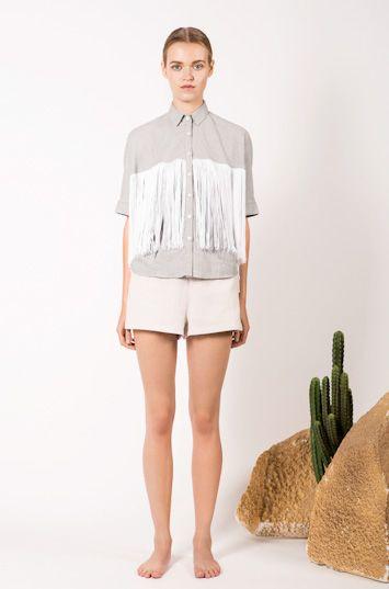#frisur #clothing #womenswear #fashion  http://www.urbag.cz/estetika-divokeho-zapadu-v-damskem-obleceni-znacky-frisur-jaro-leto-2014/