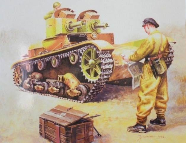 Czołg 7TP - wersja dwuwieżowa, jak mniemam z 1. kompanii czołgów lekkich Dowództwa Obrony Warszawy 1939 r.