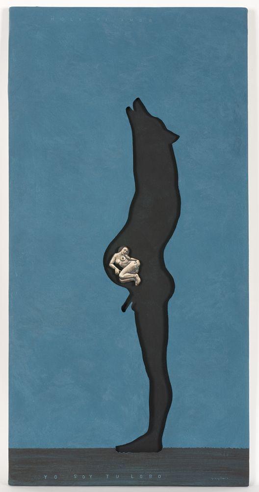 YO SOY TU LOBO. 110 x 55,5 cm. Mixta sobre acero y lienzo. 2.100 €