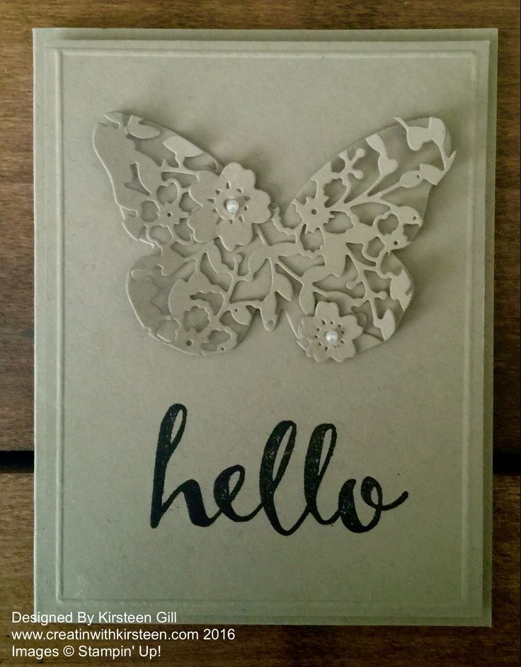Using the Bloomin' Heart thinlits to make a butterfly #stampinup #occasions #creatinwithkirsteen