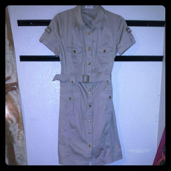 I just added this to my closet on Poshmark: Calivin Klein khaki shirt dress. Price: $55 Size: 8