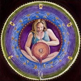 Amy Swagman, Certified Labor Doula (CLD) and fine artist, gave this author permission to use her labyrinth photo.
