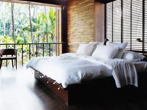 Tropics = HomeDreams Bedrooms, Palmyra House, Favorite Places, Tropical Bedrooms, Dream Bedrooms, Tranquil Bedrooms, New Bedrooms, Wood Wall, Cozy Beds