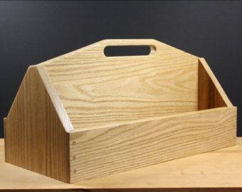 caja de roble sólido, caja de herramientas de madera, caja grande, sólida caja de madera, regalo marido, decoración cocina, organizador de cocina, decoración de casa de campo, estilo rústico