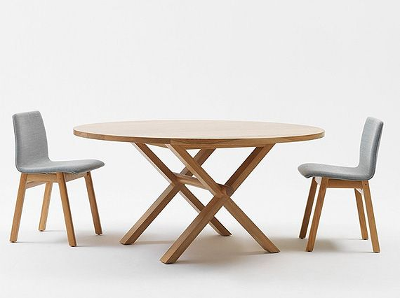 round wooden dining table - Google Search