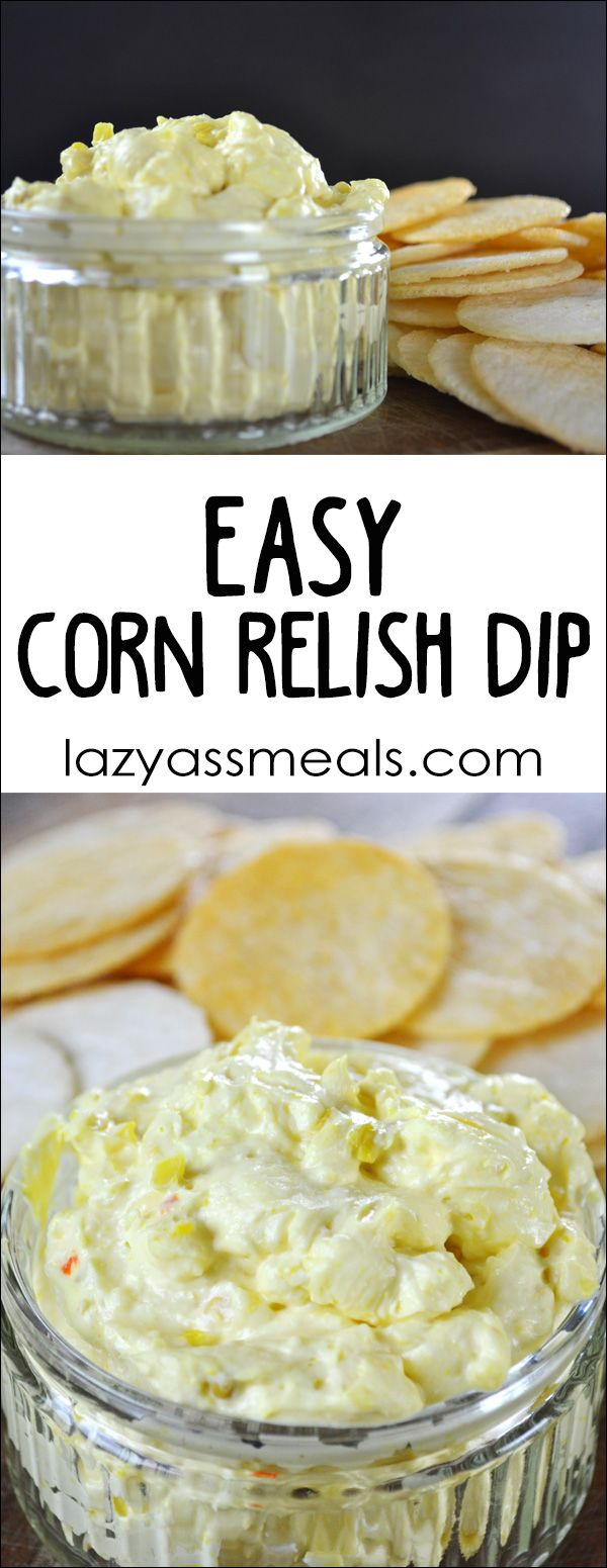 This super easy corn relish dip is perfect for anyone looking to make some delicious homemade dips. You only need a few ingredients and it tastes absolutely amazing.