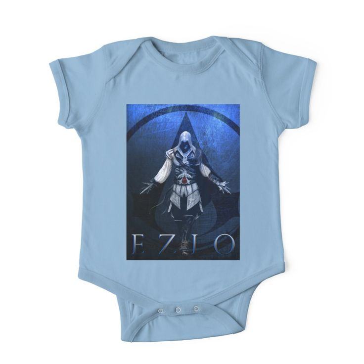 Ezio Auditore  Gaming Baby Onesie Baby Onesie by scardesign11. #ezioauditore #baby #onesie #popular #assassinscreedonesie #cool #blue #babyclothes #clothing  #gifts #babyclothes #redbubble #gaming #gamer #family #shopping #style #kids #awesome #gifts  #39 #gaminggifts #geek #giftsforhim #giftsforher #babygifts #videogame #games #gamergifts #babyboy #mom #dad #uncle #aunt #badass
