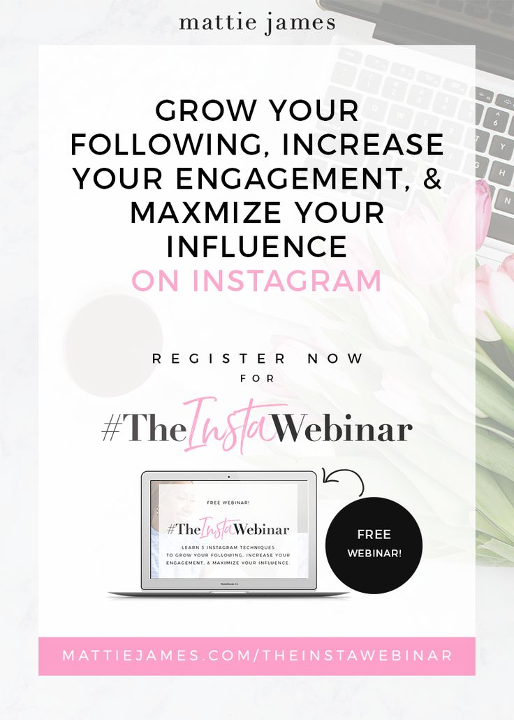 Learn exactly what to post, when to post & why to post to get your IG growing like crazy. #TheInstaWebinar