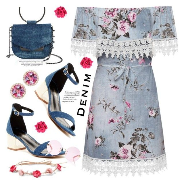 """""""Pretty Much Denim"""" by deaniefrank ❤ liked on Polyvore featuring Nasty Gal, WearAll, Liliana, Frederic Sage, Karen Walker, Aéropostale, Nico, ANNA and alldenim"""