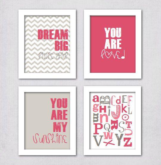 INSTANT DOWNLOAD  Baby Girl Nursery Art Prints by DarlingDigitals
