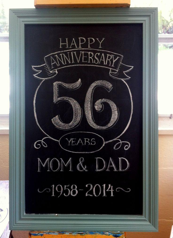 Anniversary chalk board art