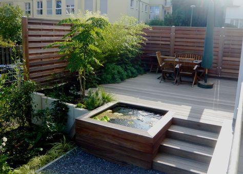 Terrassengestaltung Mit Wasserbecken. Bilder Und Notizen