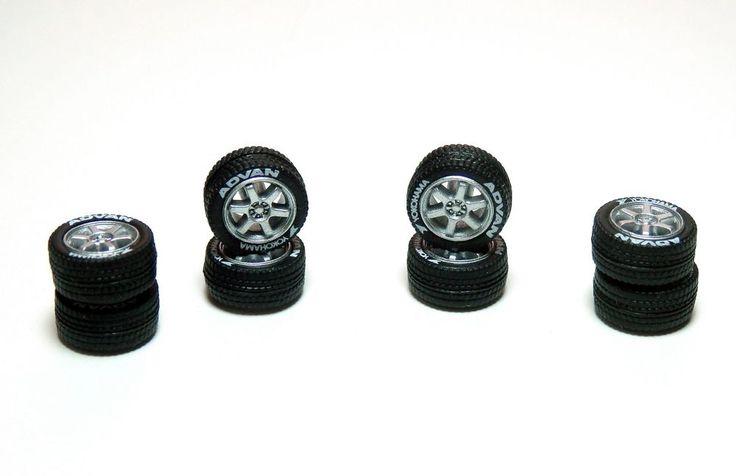 High Quality Hot Wheels 4 Spoke Long Axle Rubber Tire 10 set White Colors JDM