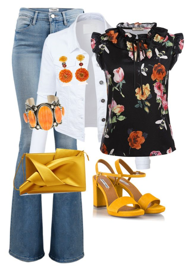 """""""Shopping day"""" by debatron on Polyvore featuring Frame, LE3NO, Fratelli Karida, Bahina, Harpo and N°21"""