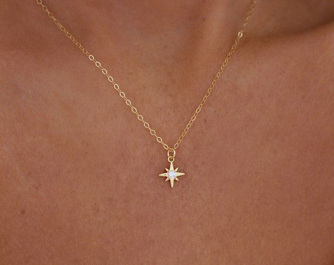 Gift for Her Silver Gemstone Necklace Star Pendant Constellation Necklace Star Charm Necklace Gold Star Necklace Graduation Gift