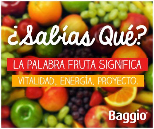 Ellas nos mantienen sanos y fuertes ¡Aprovechemos al máximo sus propiedades! #BaggioJugos #BaggioSabiasQue