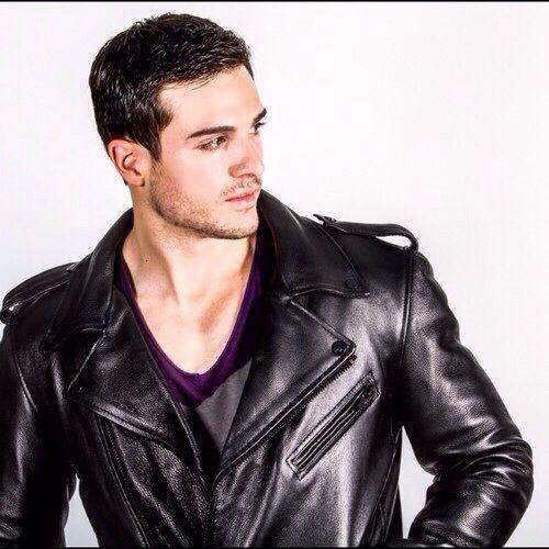 Philip Fusco in leather jacket