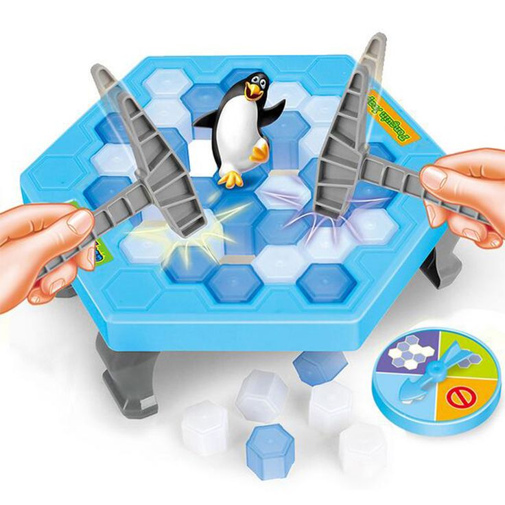 Ice Breaking Save The Penguin Board Great Family Game Antistress Fun Toy Fun Trick Who Make The Penguin Fall Off Will Lose Game