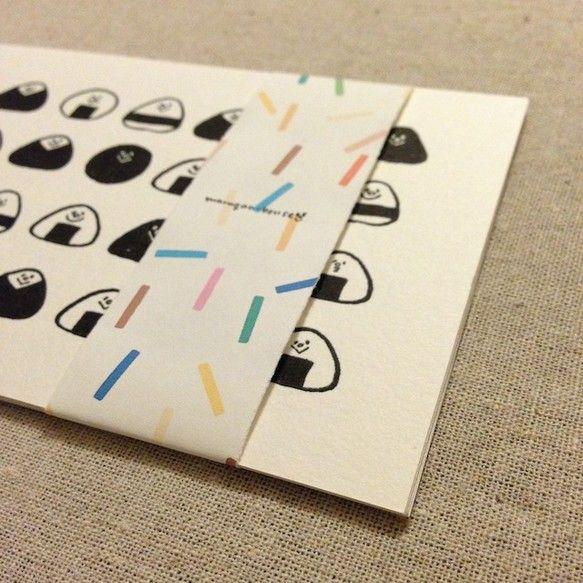 ☆おにぎり、丸々マルガオ、まるさんかくしかく、バースデーカードのセット。オリジナルデザインのポストカードです。 ☆4枚セットでお届けします。|ハンドメイド、手作り、手仕事品の通販・販売・購入ならCreema。