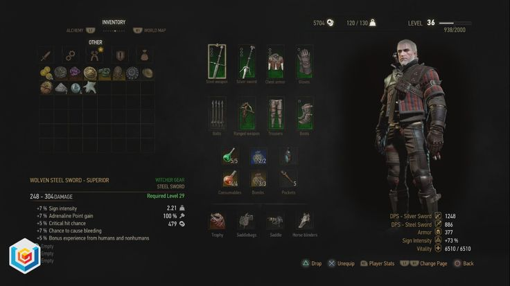The Witcher 3 Wild Hunt Superior Wolven Wolf School Gear Set DLC Diagrams Locations Guide – VGFAQ