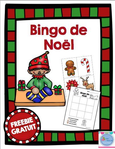 FREEBIE: Bingo de Noël