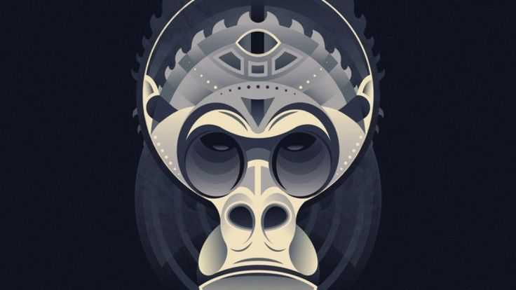Geometric Gorilla by Marion Kamper - Skillshare