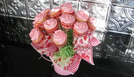 Pink Rose Cake Small chocolate cake w/ vanilla buttercream for MIL & FIL for Valentine's Day. TFL!