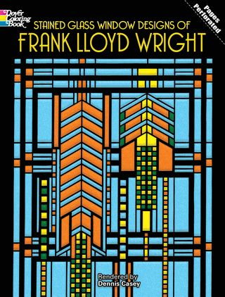 Stained Glass Window Designs Of Frank Lloyd Wright Dover Design Coloring Book