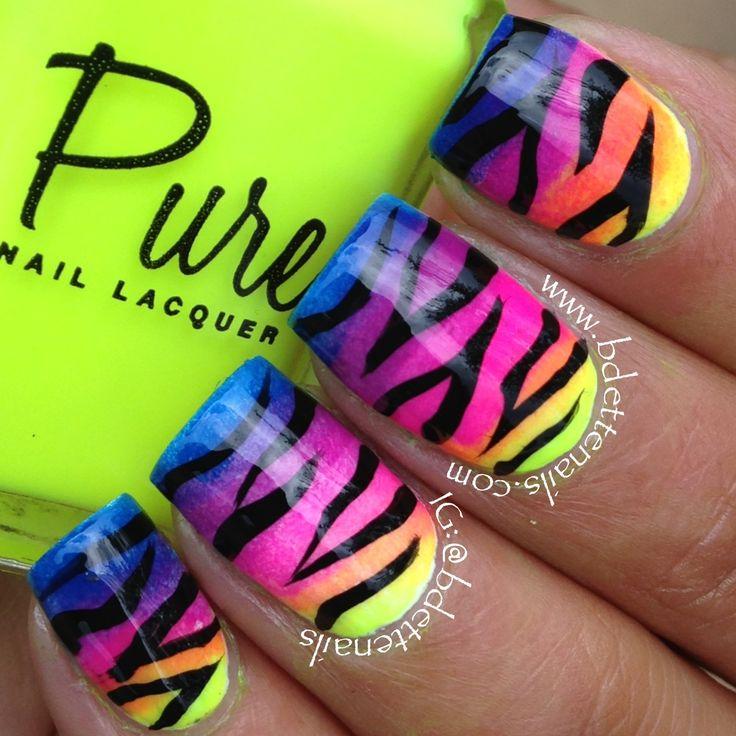 Mejores 19 imágenes de Nail Art en Pinterest | Arte de uñas, Uñas de ...
