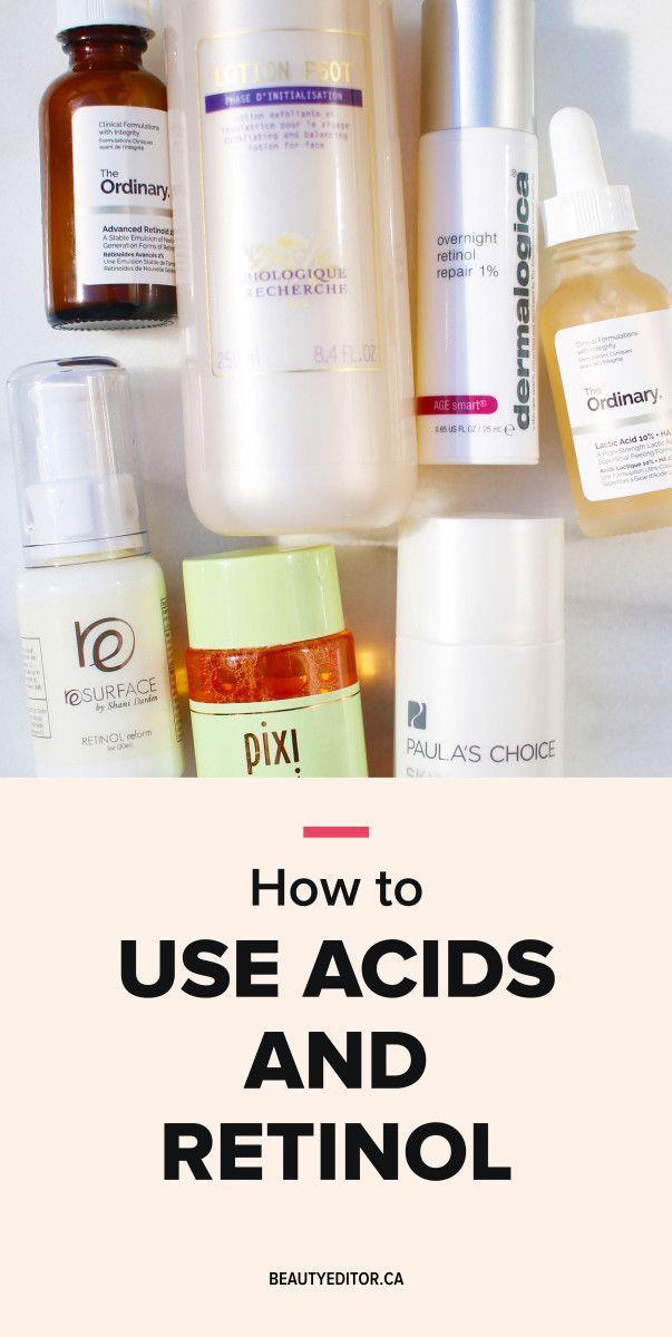 Der richtige Weg, um eine AHA oder BHA und Retinol in Ihre Hautpflege Routine zu schichten