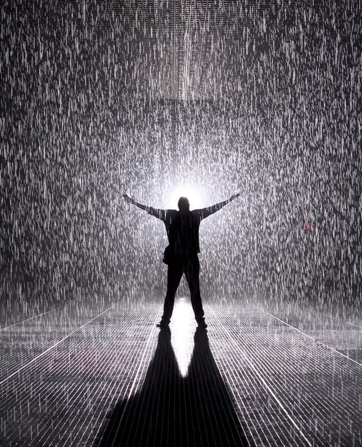 You control the weather at the mesmerizing new Rain Room installation at MOMA