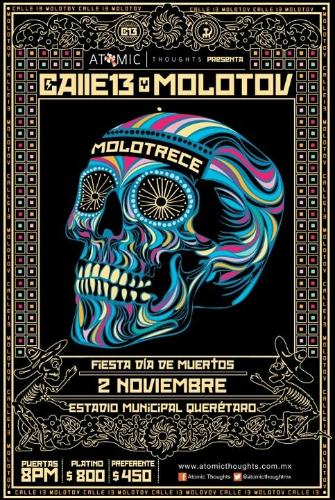 Calle 13 + Molotov poster