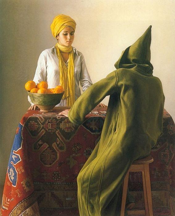 Claudio Bravo, The Fortune Teller, 1981, oil on canvas, 162,5 x 130,7 cm