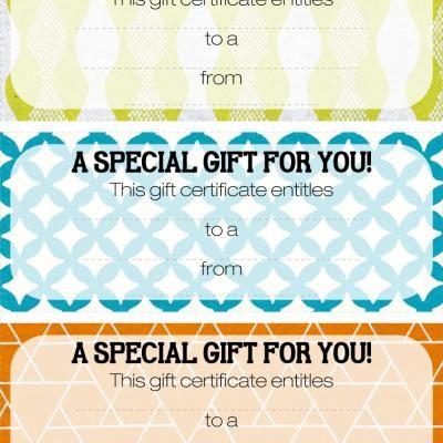free printable gift certificates...and TONS more printable stuff...