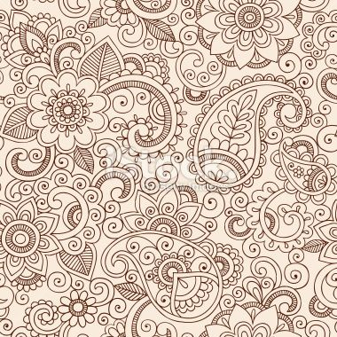 Henna Mehndi Tattoo Pattern Paisley Floral Doodle Vector Design Royalty Free Stock Vector Art Illustration