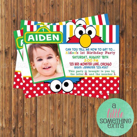 4d2f0b680b81859fd3ff7bc200cfe2c3 sesame street invitations elmo invitations 302 best 2nd bday party ideas images on pinterest,Elmo Invitations Etsy
