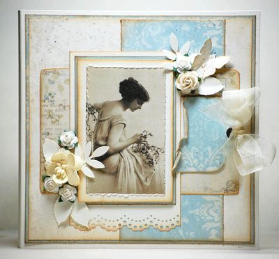 Beautiful Scrapbook Page With A Vintage Photo. ♥
