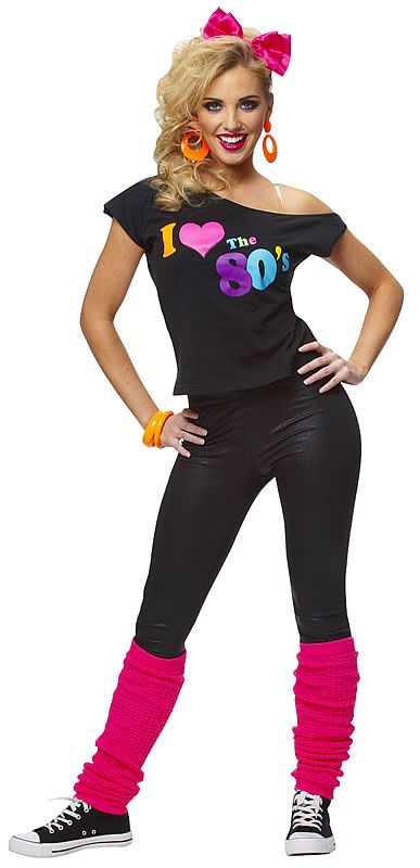 I Love the 80's T-Shirt http://apsense.cc/6cc33d Declare your favorite decade in this I Love the 80's T-Shirt! Costume features a black off the shoulder t-shirt with colored screen print writing. #Costume includes the shirt only.