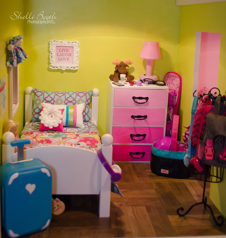 American girl Doll house Bedrooms ~Shelli Booth Photography/Art Copyright © 2015