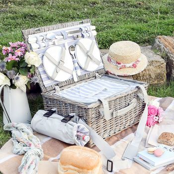Willow Picnic Hamper For Four
