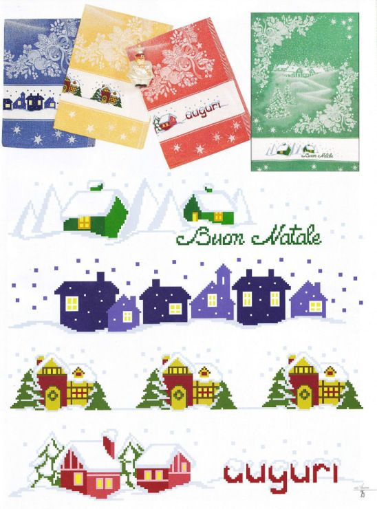 Cross stitch - dish towels - patrizia61 bordo per canovaccio natale a punto croce