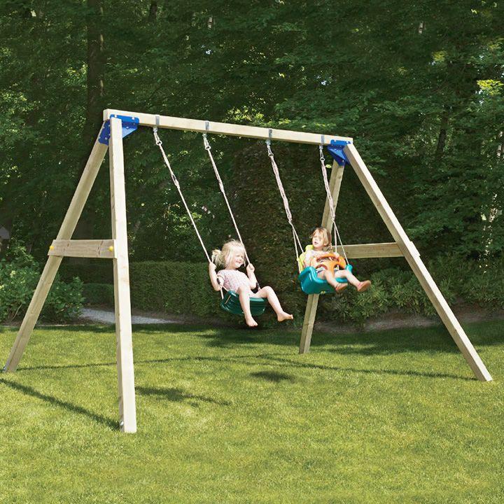 楽天市場 Diy 屋外 木製 家庭用遊具 ブランコフレームセット は