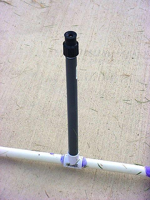 Homemade PVC Water Sprinkler