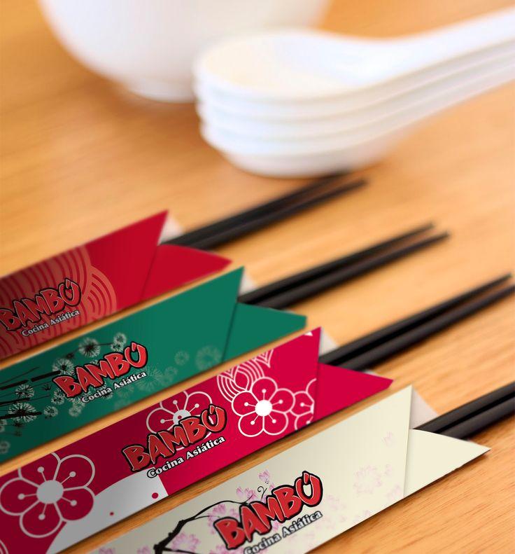 Packaging para restaurante Bambu: Chopsticks