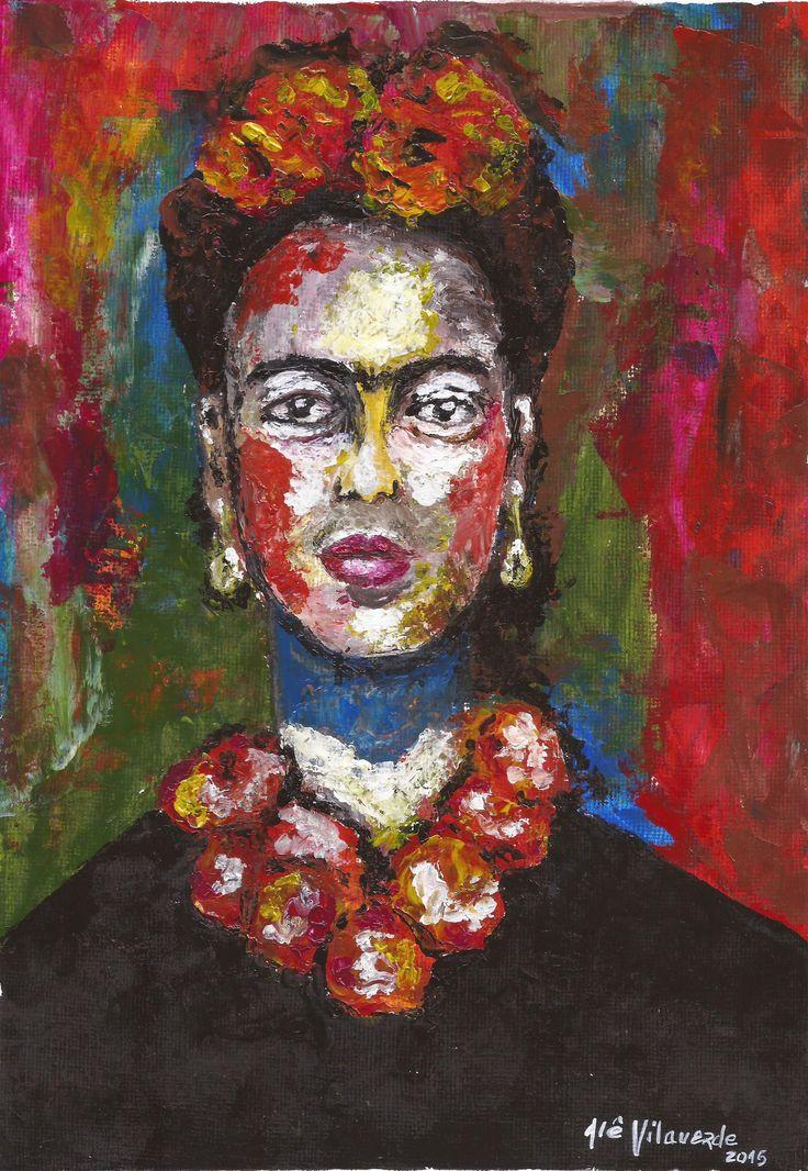 Frida - acrílica espatulada - Alê Vilaverde / art/ painting/ acrylic