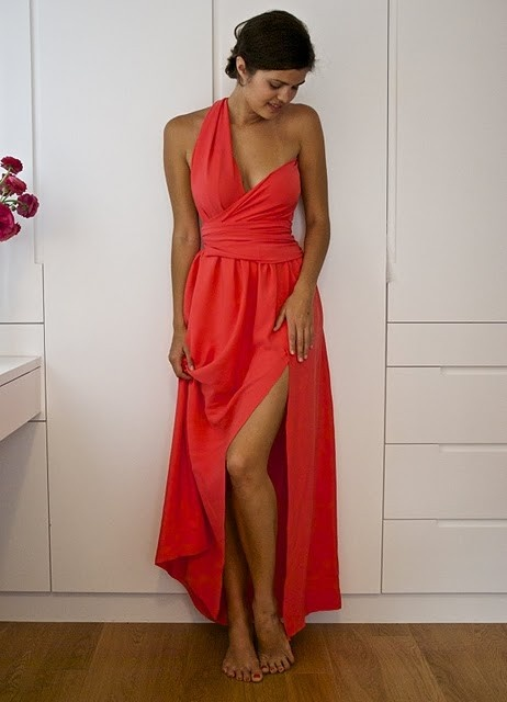 d.i.y.: Wraps Bodice, Bodice Dresses, Maxi Dresses, Diy Fashion, Bridesmaid Dresses, Diy Clothing, Diy Side, Wraps Dresses, Side Split