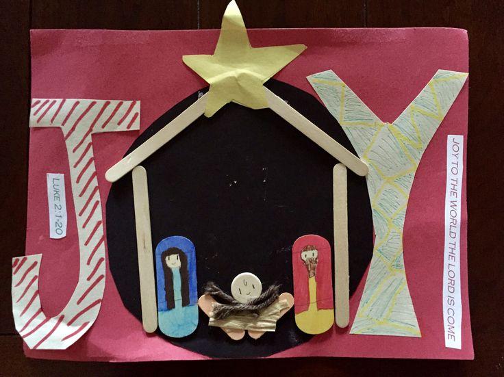 """Joy to the world the Lord is come."" ~Luke 2:1-20 #ChildrensChurch #Craft #SundaySchool #BibleCraft #Christmas #ChristmasCraft #manger #nativity #JoyToTheWorld #ASaviorIsBorn #Jesus #ChurchCraft #WordOfGod #GodsWord #UnitedFaithChurchBarnegatNJ"