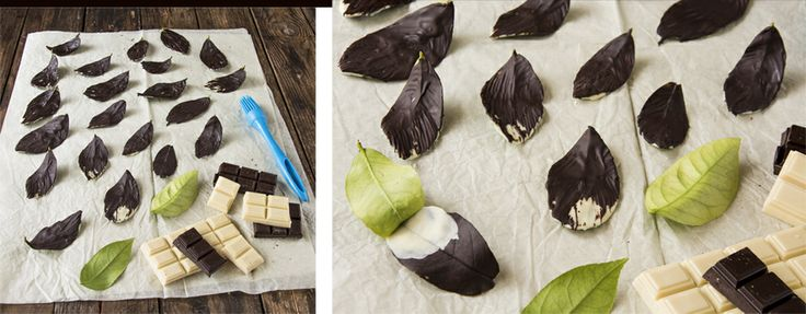 La cocina de Frabisa: Filigranas, letras, hojas, cuencos y tejas de chocolate