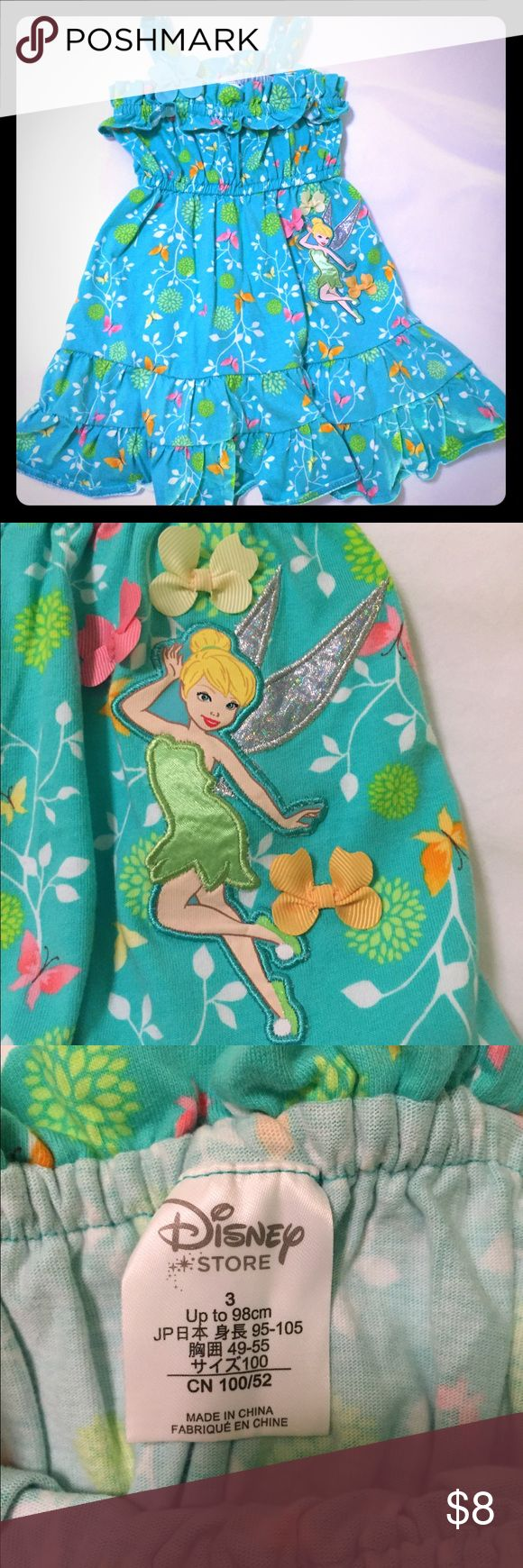 Disney Store size 3 Tinkerbell dress Disney Store 3t summer Tinkerbell dress. Color is more green (see second and third pictures) then Aqua. Disney Dresses Casual