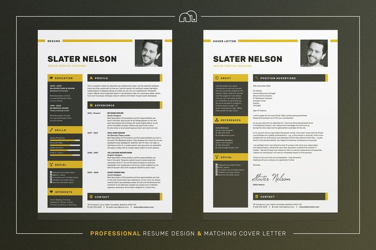 Resume/CV - Slater by bilmaw creative on @creativemarket #resume #cv #template